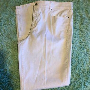Ann Taylor white skinny jeans size 16 T